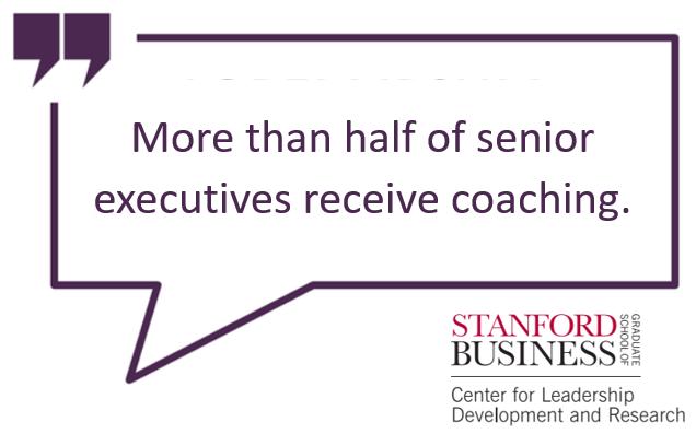 More than half of Senior Executives receive coaching